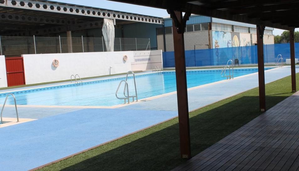 Les piscines municipals d'Ulldecona, on s'estava fent el curset.