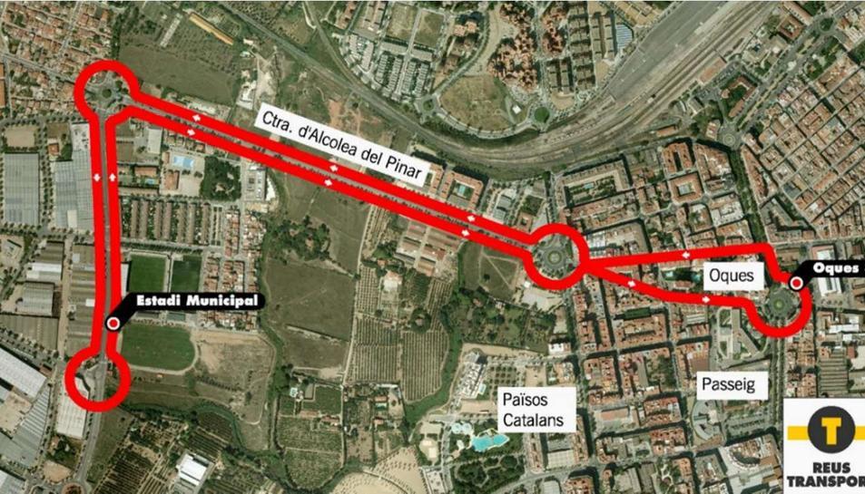 Reus Transport crea la Línea 34 de bus per anar al feu roig-i-negre
