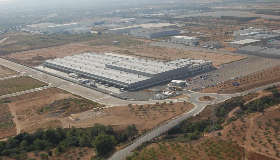 Imatge de la nova planta de magatzem i distribució d'El Corte Inglés a la Bisbal del Penedès.