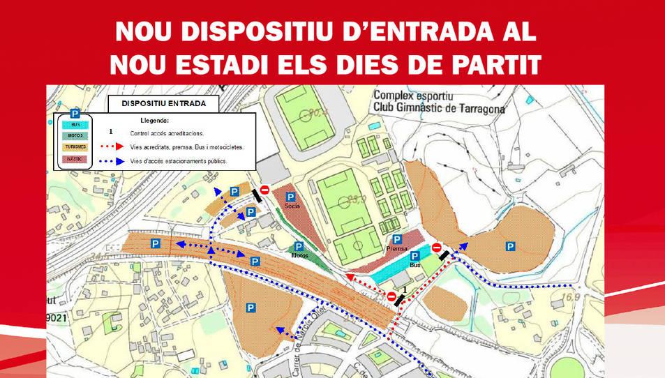Novetats per accedir amb cotxe a la zona del Nou Estadi en dies de partit