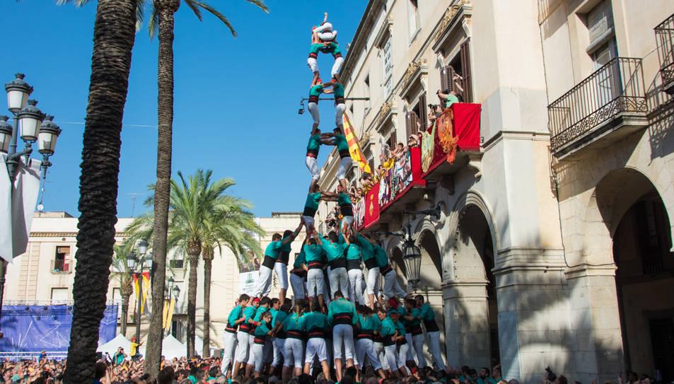 2de9fm dels Castellers de Vilafranca a Vilanova.