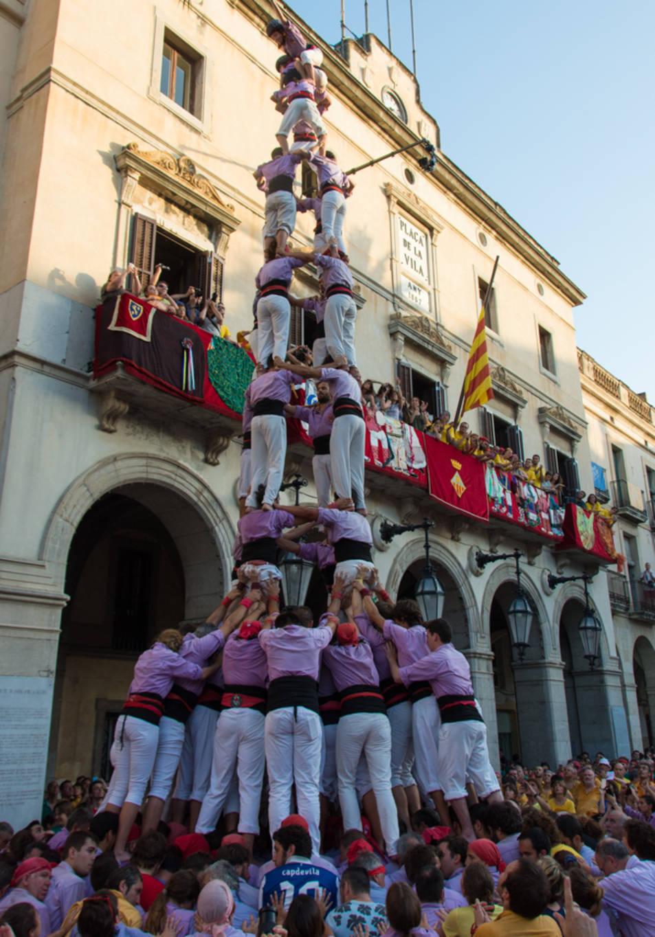 4de9 folrat de la Colla Jove de Tarragona a la diada de Vilanova.
