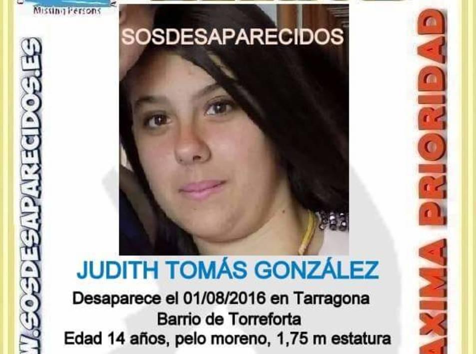 Imatge del cartell distribuït per buscar la noia