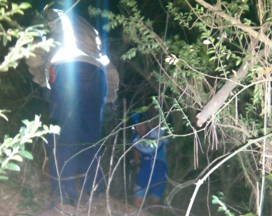 Imatge del rescat per part dels Bombers.