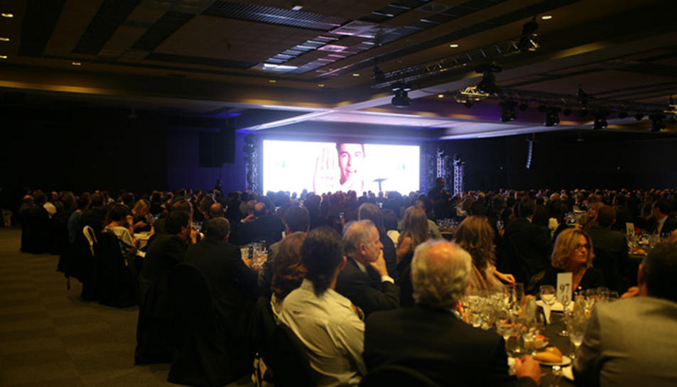Imatge de la celebració del sopar-espectacle l'any passat.