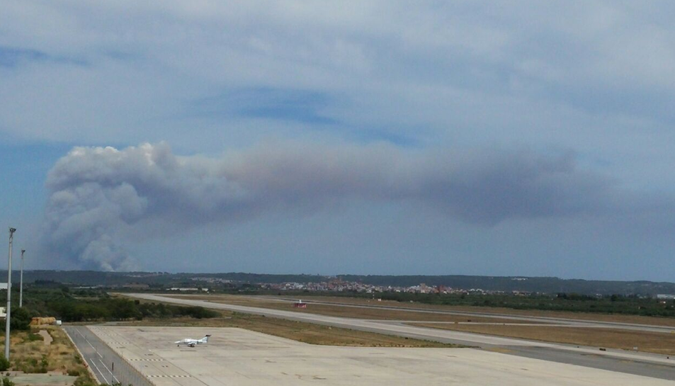 L'Aeroport registra en una sola tarda 68 moviments per extinció d'incendis