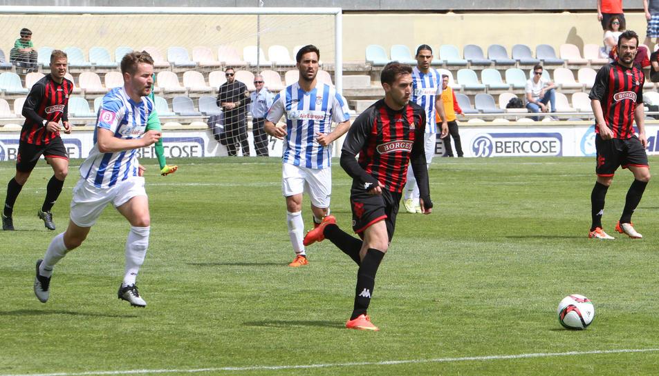 Alberto Benito, durant el partit de tornada de la temporada passada contra l'Atlètic Balears.