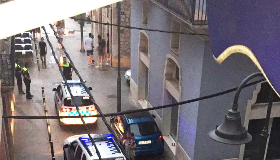 Imatge de la Guàrdia Urbana identificant als implicats en una baralla, la setmana passada.
