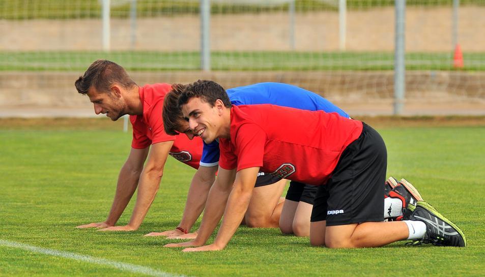 Els jugadors del Reus preparen l'inici de la temporada.