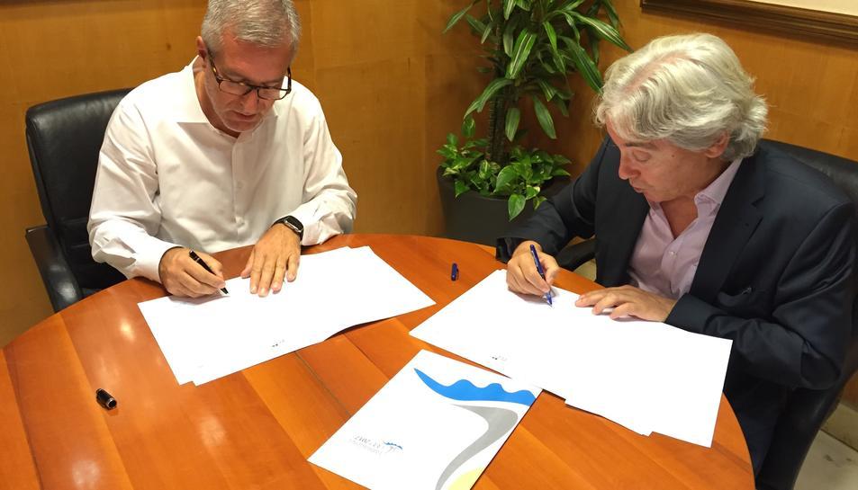 L'alcalde i president de la Fundació Tarragona 2017, Josep Fèlix Ballesteros; i el Director Delegació Catalunya de FCC, Jesús Padulles Caba