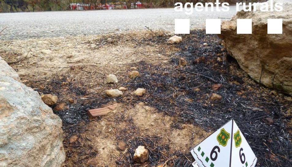 Una burilla podria ser la causa de l'incendi de la Pobla de Montornès