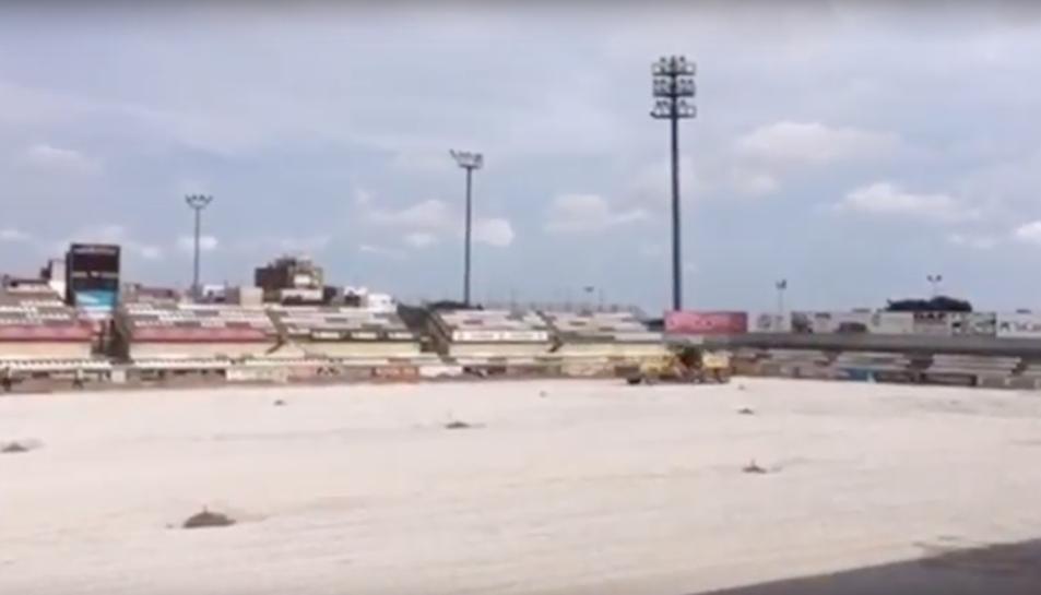 Les obres de l'Estadi Municipal de Reus ja estan en marxa
