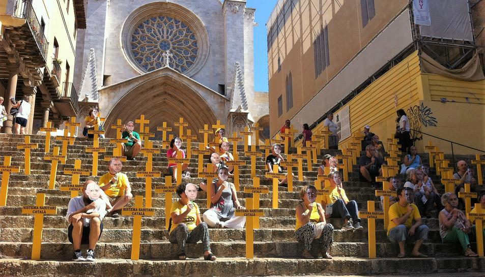 L'ANC Tarragona tanca la seva campanya d'estiu, marcada de performance reivindicatives