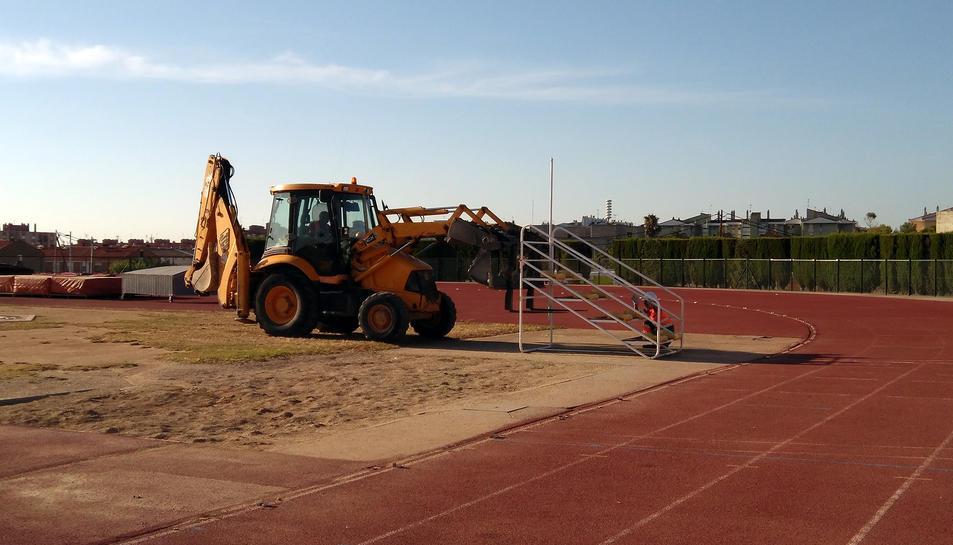 Comencen les obres de reforma de l'estadi d'atletisme de Campclar