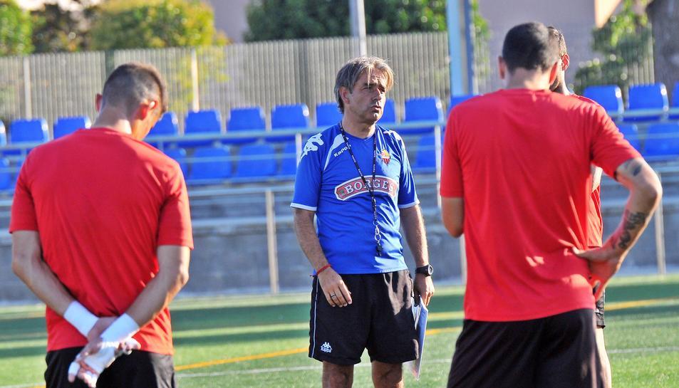 Natxo González, preparado para el debut.