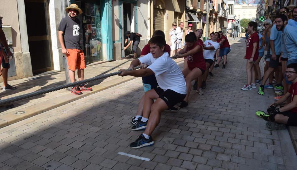 Estratègia i força en el V Concurs d'Estirada de Corda de Sant Magí