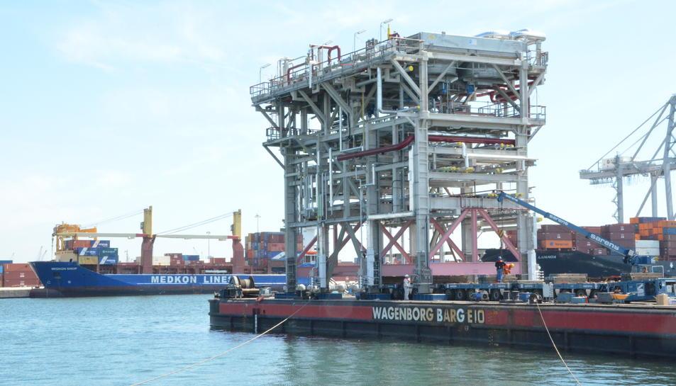 El Port de Tarragona exporta mòduls de maquinària industrial a Anvers