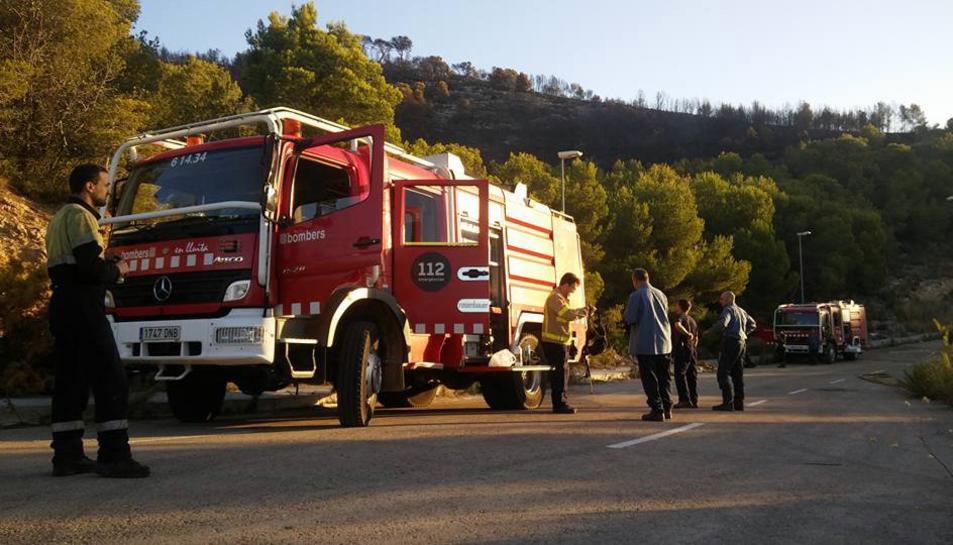 L'incendi de Calafell ha cremat la Torre de la Talaia