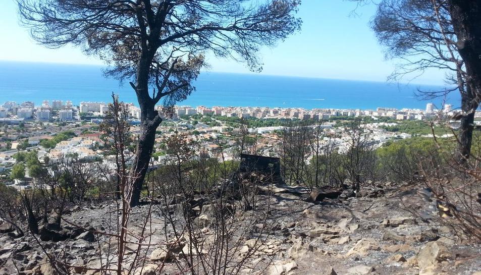 L'incendi de Calafell hauria cremat la Torre de la Talaia