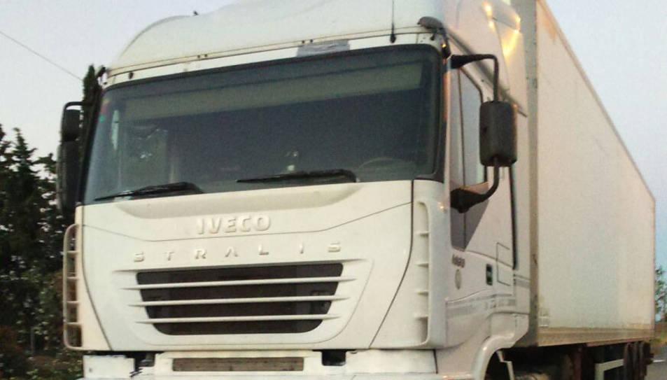 Detingut un camioner que circulava amb una taxa d'alcoholèmia cinc vegades superior a la permesa