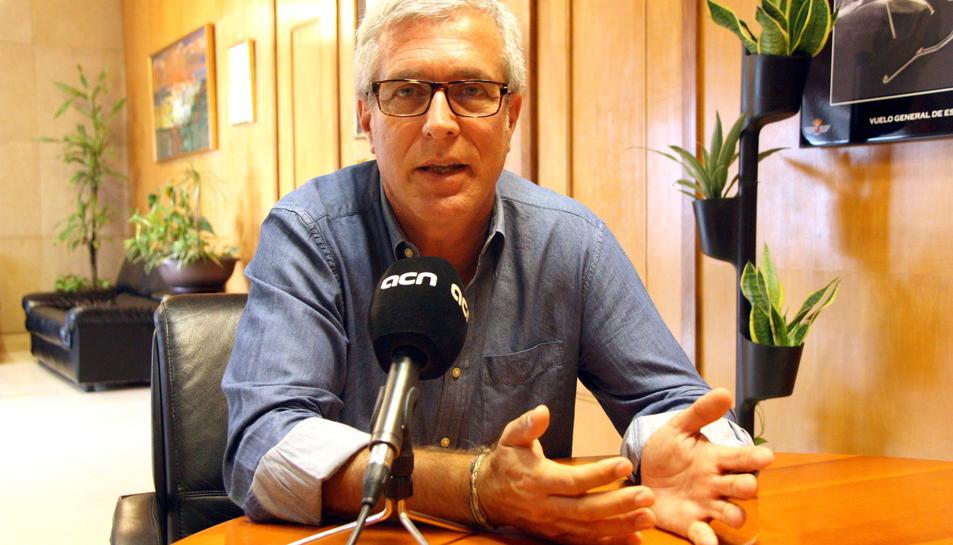 Josep Fèlix Ballesteros, durant l'entrevista.