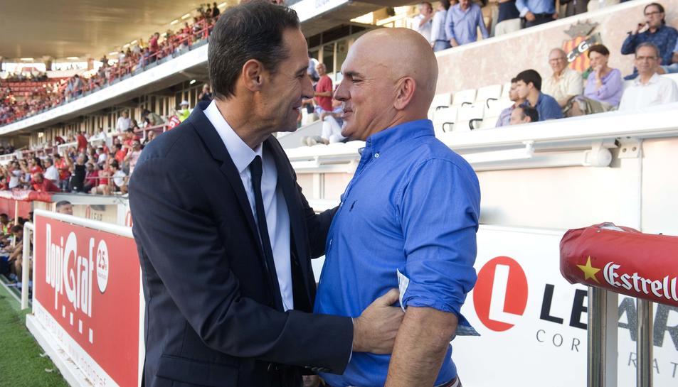 Vicente Moreno, amb Luis César.