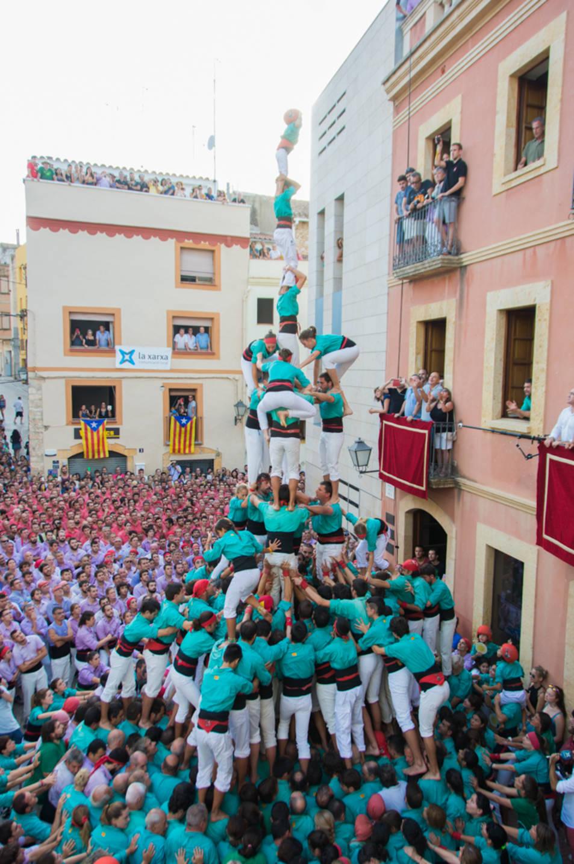 3de9fa dels Castellers de Vilafranca al Catllar.