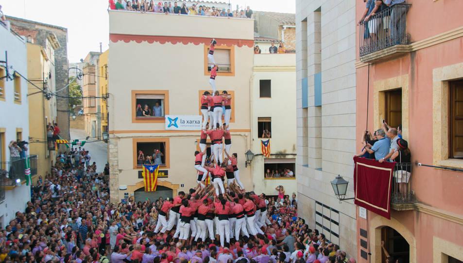 4de9fp de la Colla Vella dels Xiquets de Valls al Catllar.