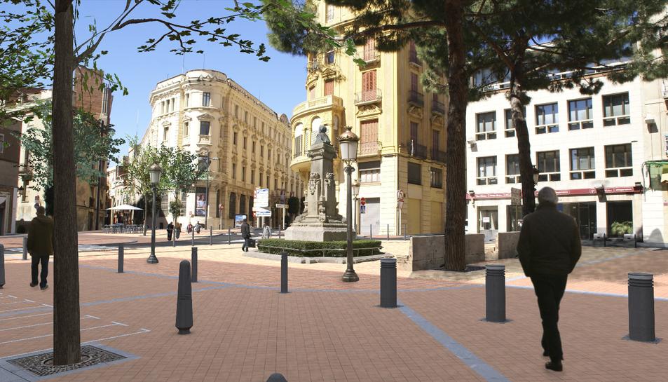 Part de l'actual mobiliari de la plaça Catalunya serà aprofitat en la remodelació