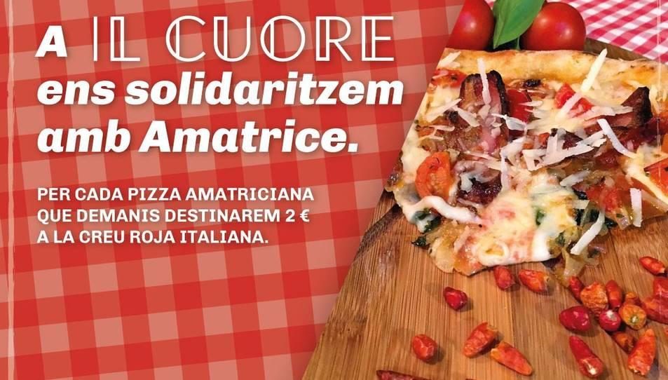 Pizza Amatriciana a Il Cuore de Reus per ajudar les víctimes del terratrèmol d'Itàlia