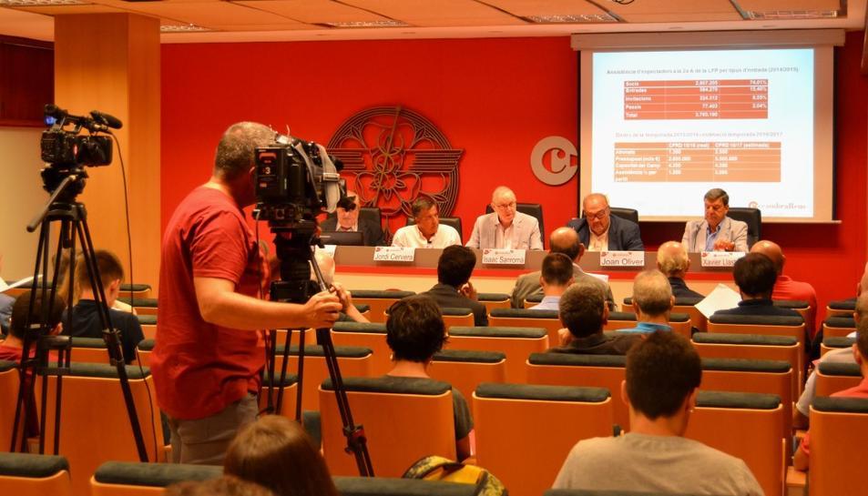 Presentació de l'estudi a la Cambra de Comerç i Indústria de Reus.