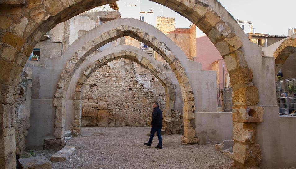 Imatge d'arxiu dels voltants de la plaça dels Àngels i el Call Jueu de Tarragona.