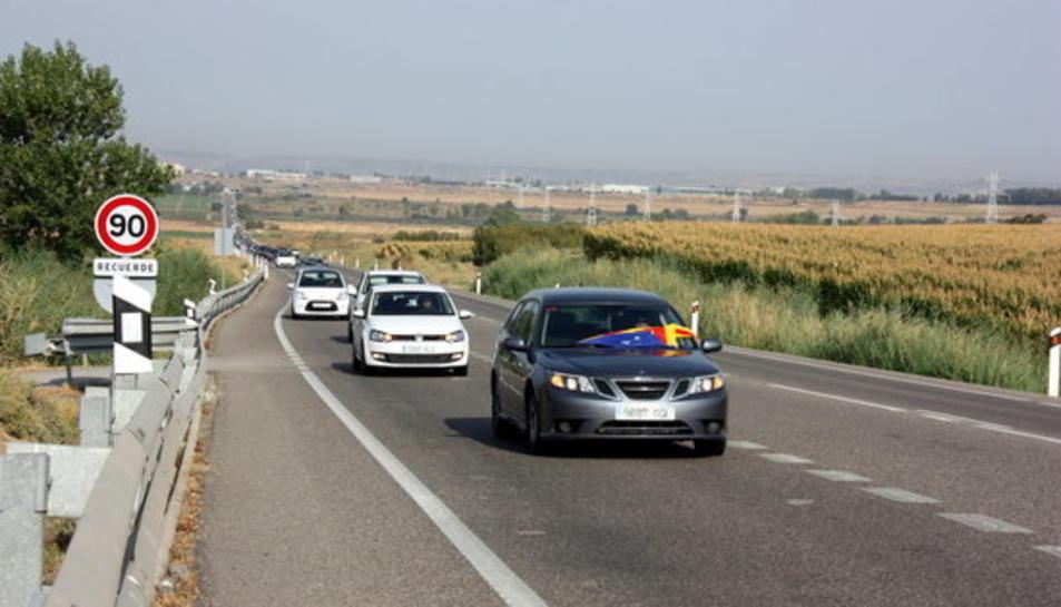 Una marxa lenta per la N-240 entre Lleida i Montblanc denuncia la manca d'inversions en aquesta via