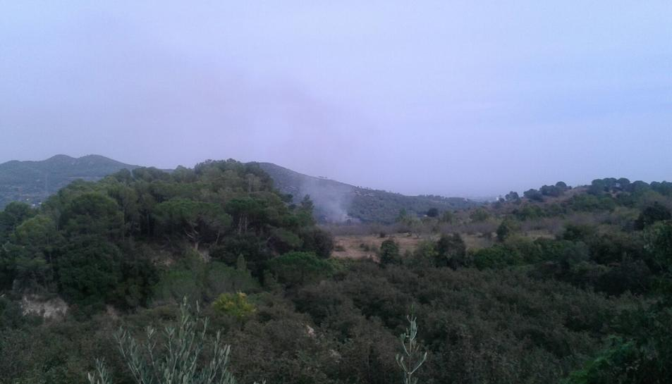 Petit incendi forestal entre les Borges del Camp i Alforja