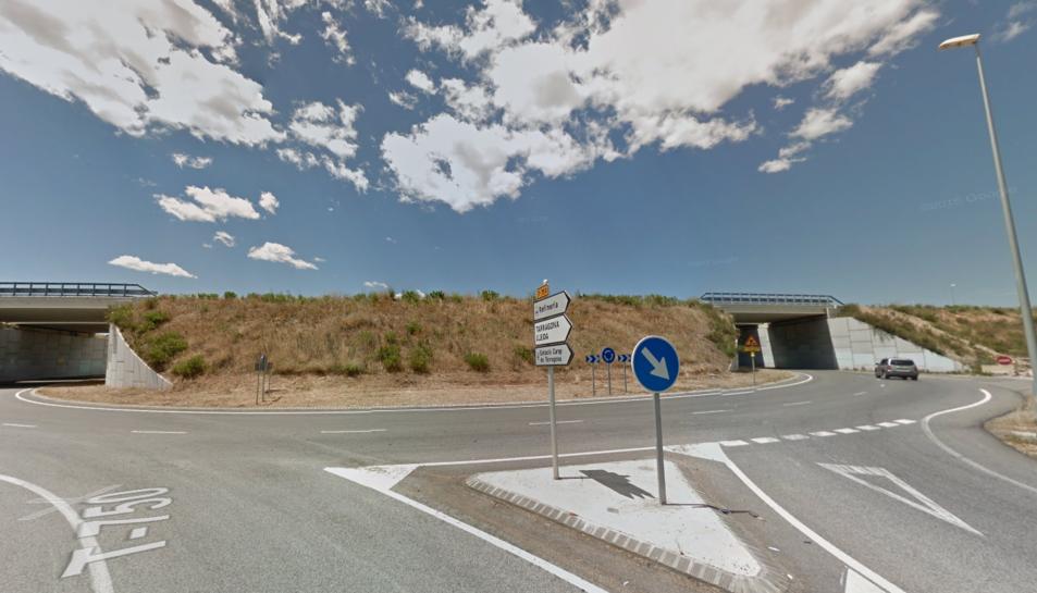 La rotonda d'accés a la sortida del Morell de l'A-27