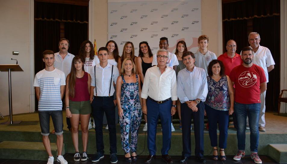 Reconeixement als atletes del Club Gimnàstic de Tarragona
