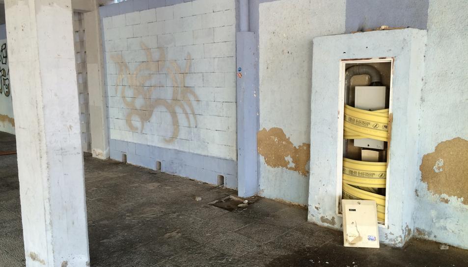 Una de les imatges que ha fet públiques la CUP per denunciar la situació dels barris de Ponent.