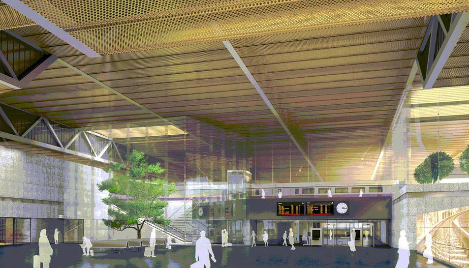 Una recreació virtual de l'estructura que es va preveure inicialment, al sud de l'Aeroport de Reus.
