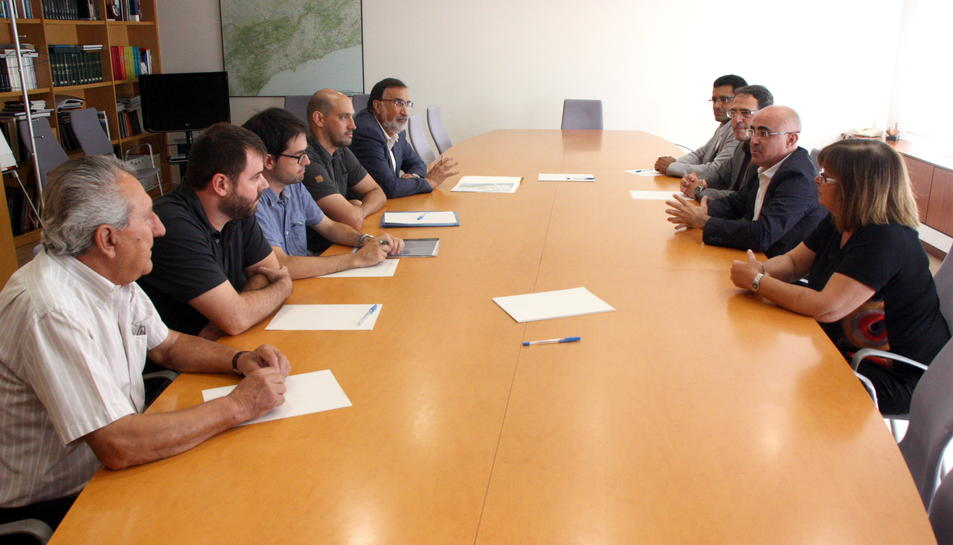 El regidor Milà, amb representants de la Generalitat.