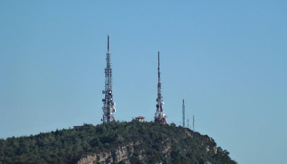 Antenes de telecomunicacions de la Mussara.