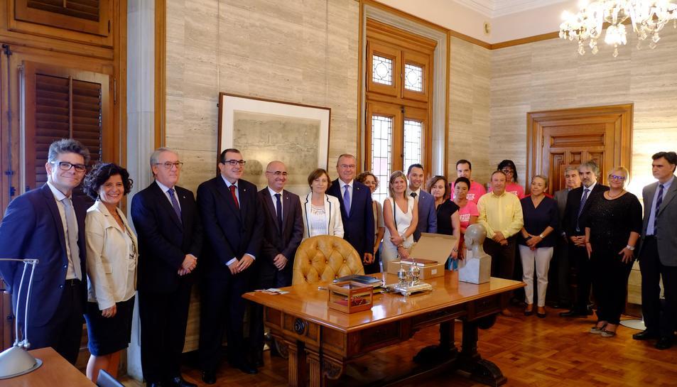 Forcadell ha pronunciat el discurs institucional del la diade al Camp de Tarragona.