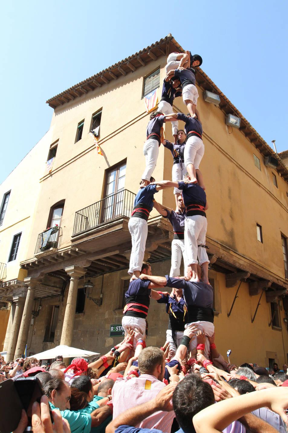 3de7 lleuger dels Xiquets del Serrallo a la diada de l'Onze de Setembre