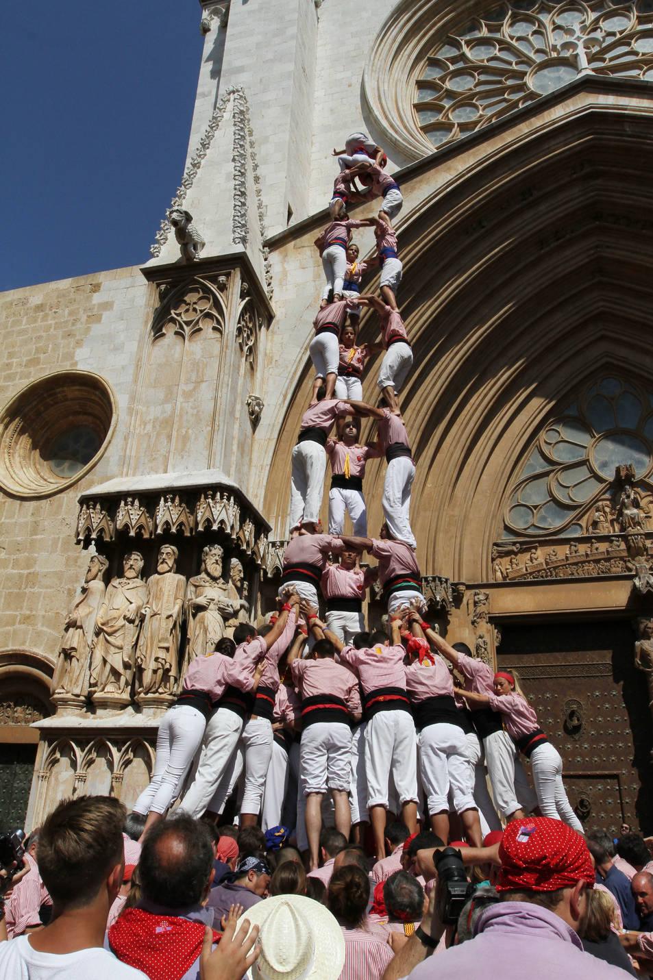 3de9f dels Xiquets de Tarragona a la diada de l'Onze de Setembre
