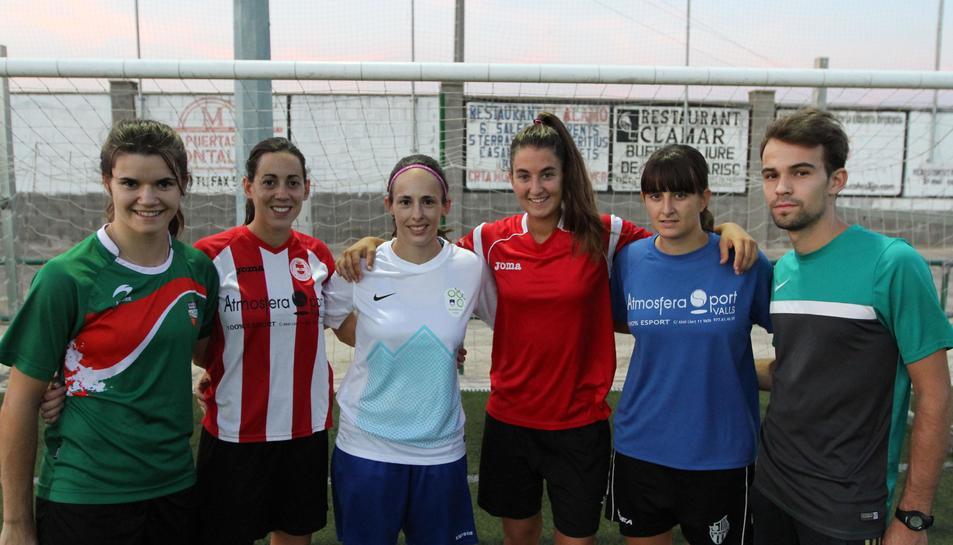 Algunes de les jugadores que formaran part de l'equip.