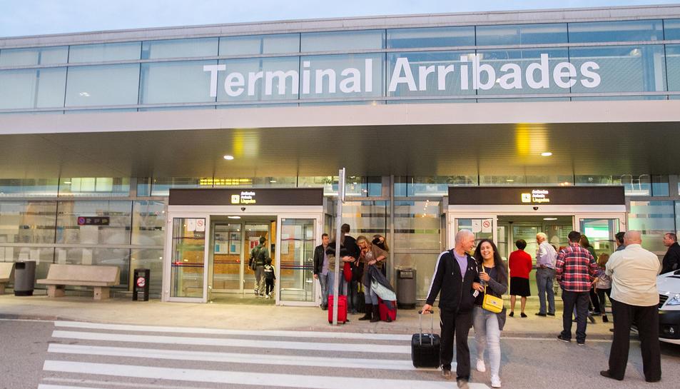 La terminal d'arribades de l'aeroport reusenc, en una imatge d'arxiu.
