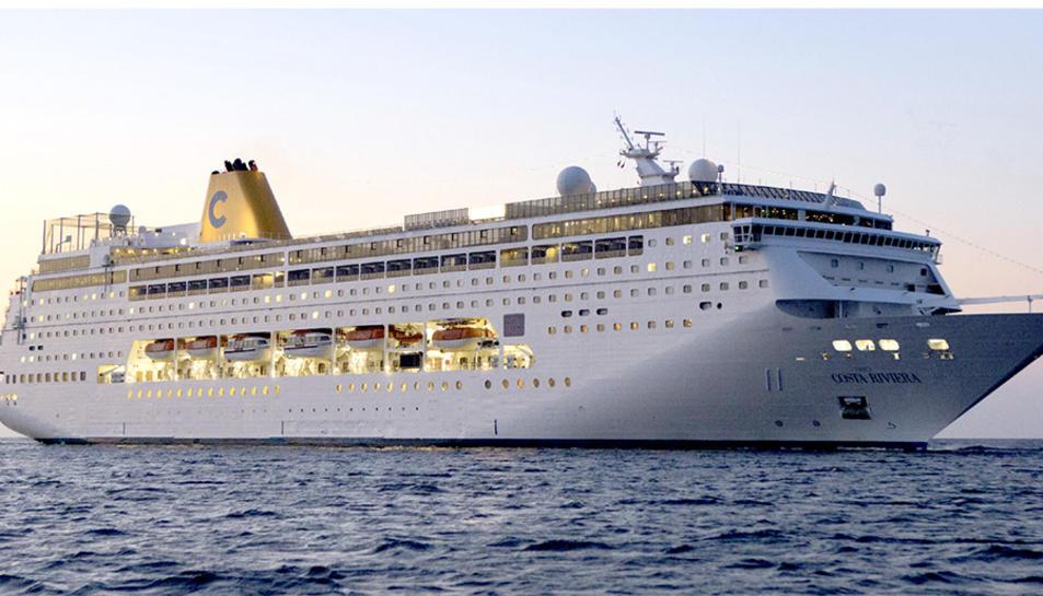 Imatge del costa neoRiviera, el vaixell que tindrà Tarragona com a punt de sortida d'un creuer de Costa Cruceros.