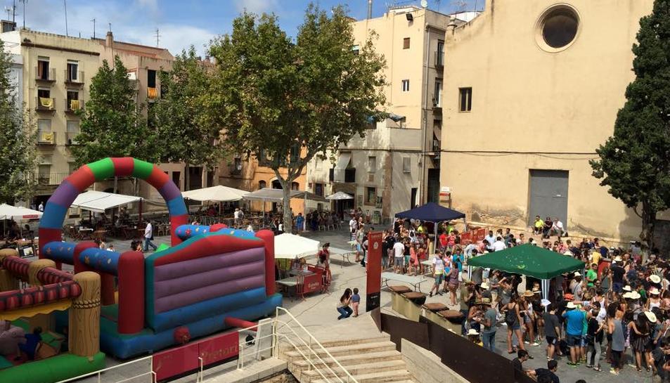 Imatge de la plaça del Rei, en la passada edició de l'acte, organitzat per l'entitat castellera.