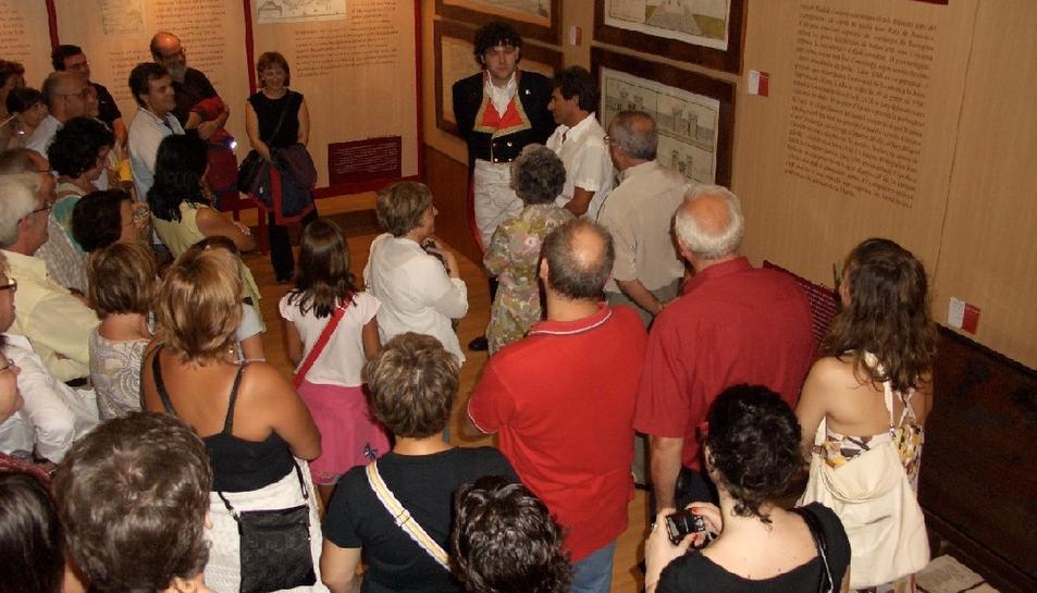 Imatge d'arxiu d'una de les visites teatralitzades al Museu del Port.