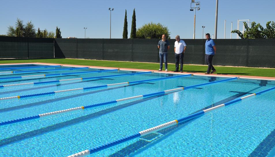 La piscina s'ha inaugurat recentment.