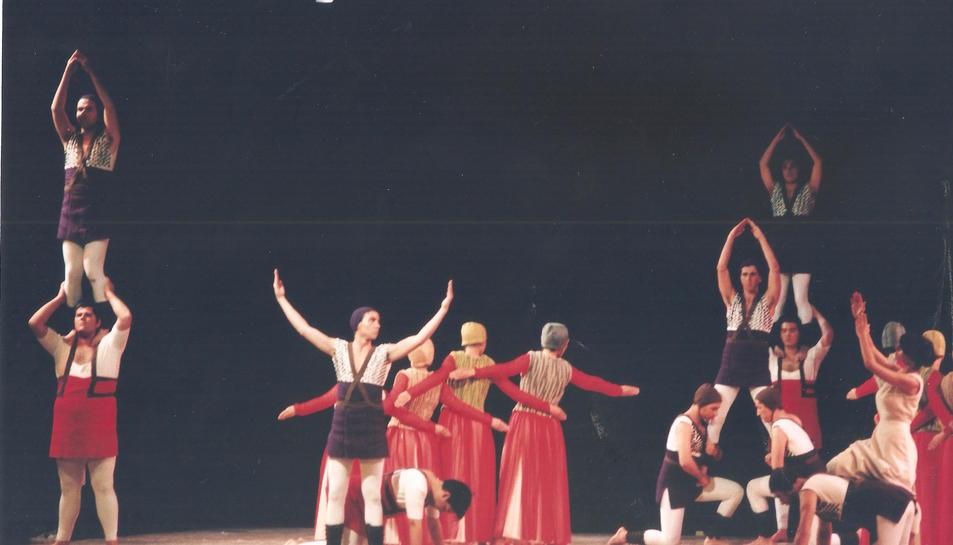 Seqüència de la primera representació del Retaule de Santa Tecla, l'any 1991.